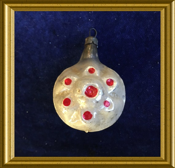 Antique small glass christmas ornament
