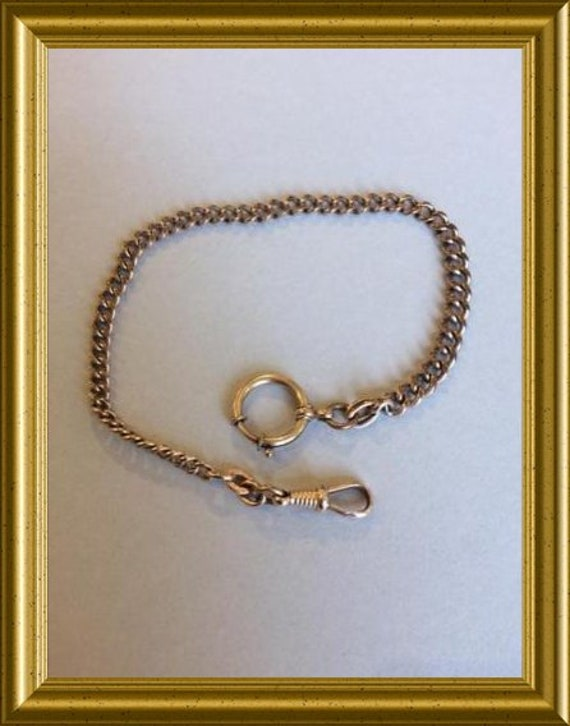 Vintage gold plated watch chain: Union