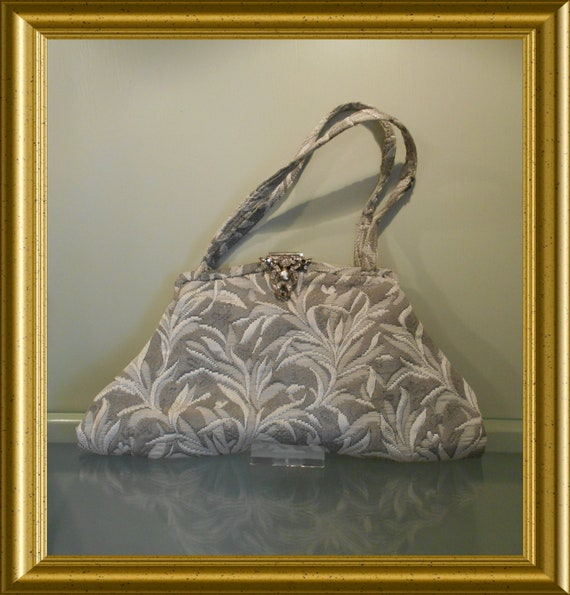 Antique grey purse / handbag