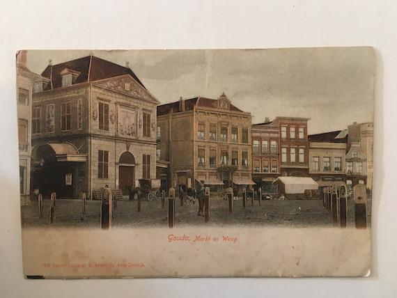 Antique Dutch postcard: Gouda