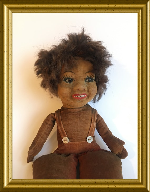 Antique Norah Wellings doll with glass eyes