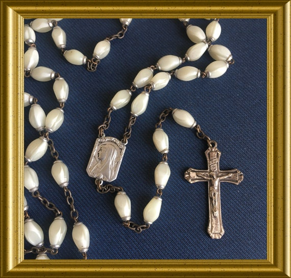 Vintage white rosary