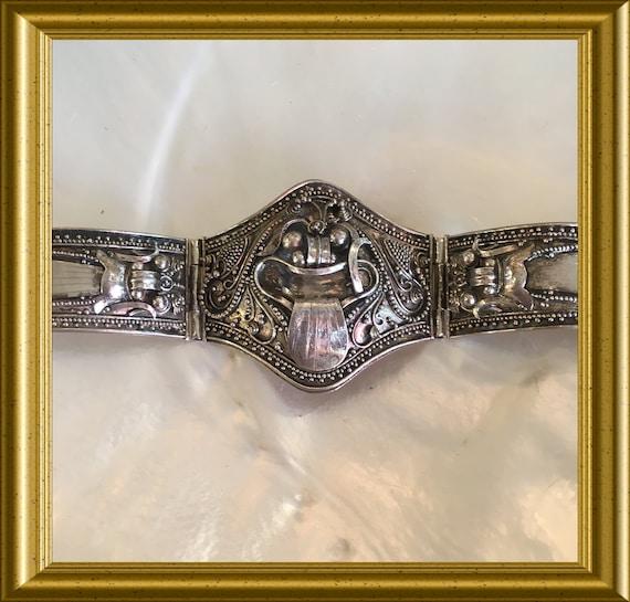 Vintage silver bracelet: dragon, Rangda