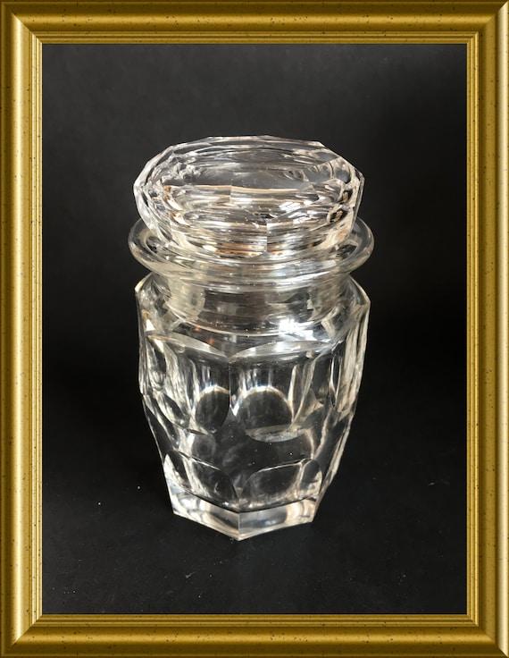 Antique cut glass jar