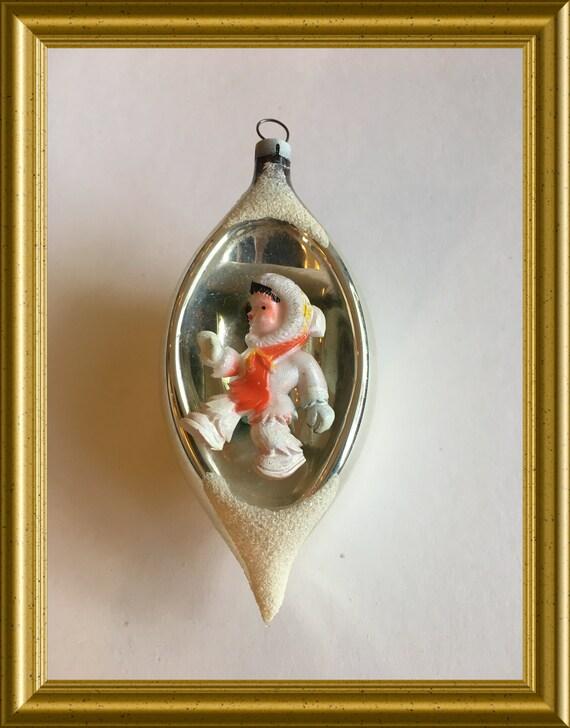 Vintage glass christmas ball / christmas ornament