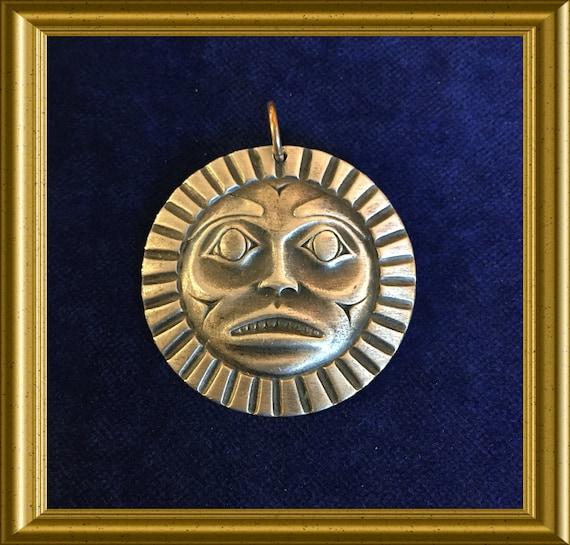 Pewter pendant, sun: Frederick Pewter Canada