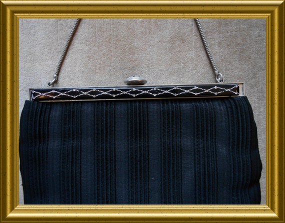 Antique black purse / handbag