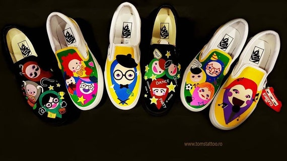 peinture à la main sur les chaussures Vans avec avec avec couleurs imperméable à l'eau c29eb6
