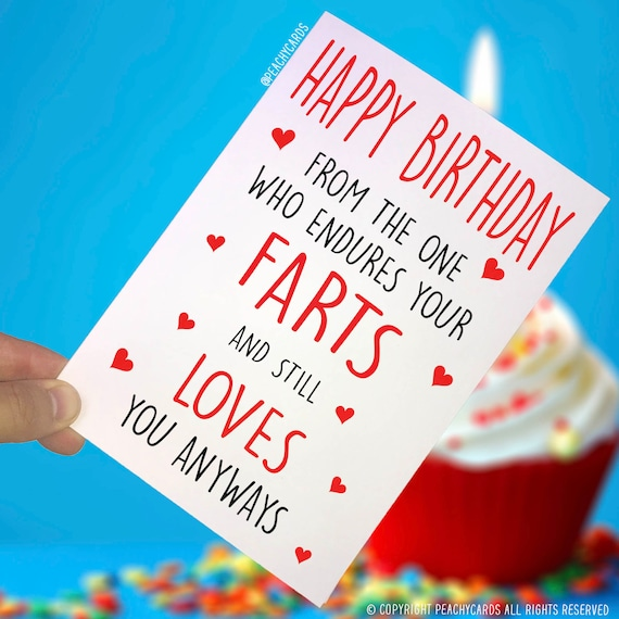 Happy birthday cards husband wife cards funny cards etsy image 0 m4hsunfo