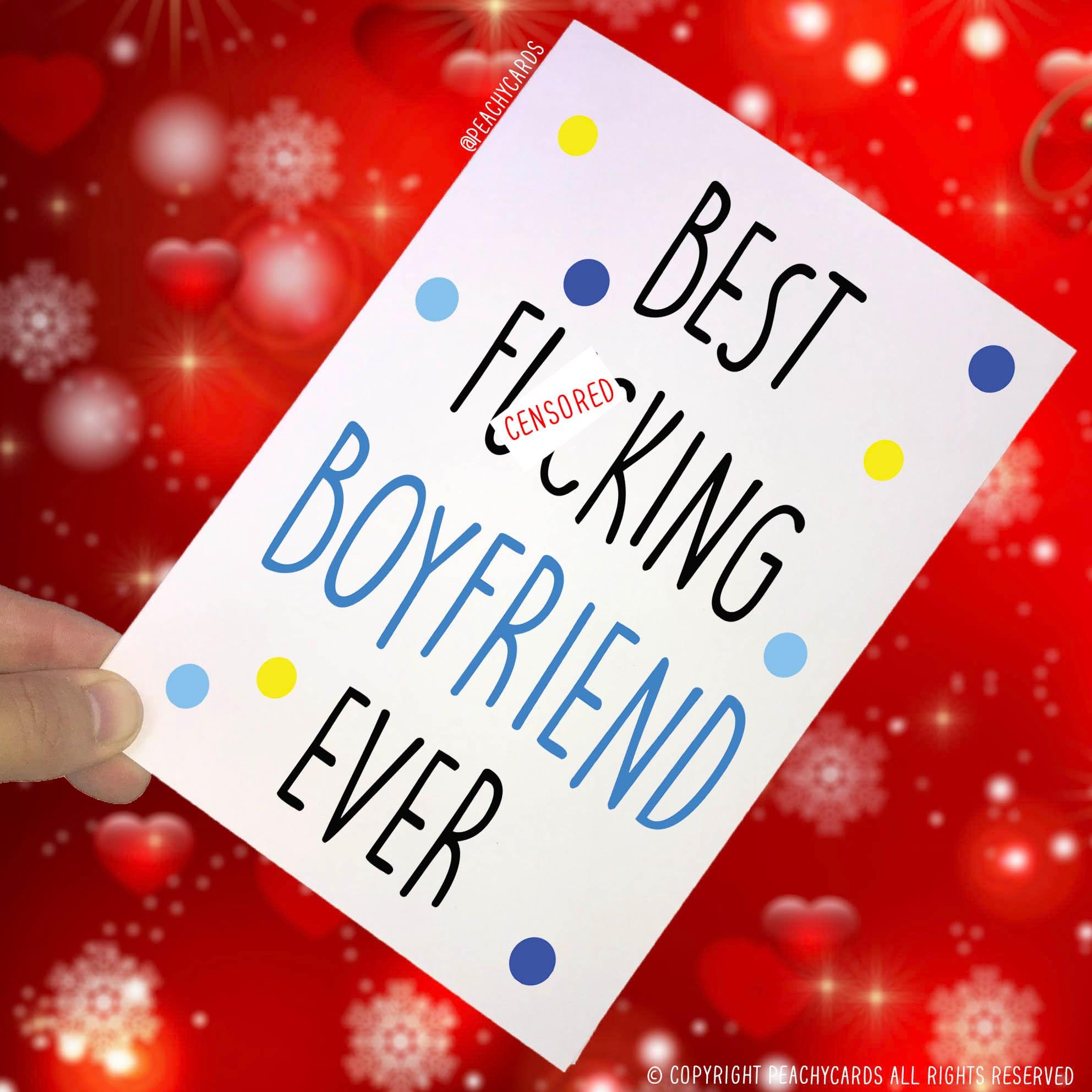 Happy Birthday Cards Boyfriend Cards Swearing Cards Best Etsy