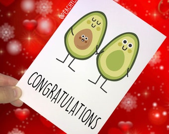 Congratulations Card Pregnancy Card Baby On The Way Funny Card Joke Card Baby Shower Novelty Cards Pregnant Friend Co Worker Avacado PC163