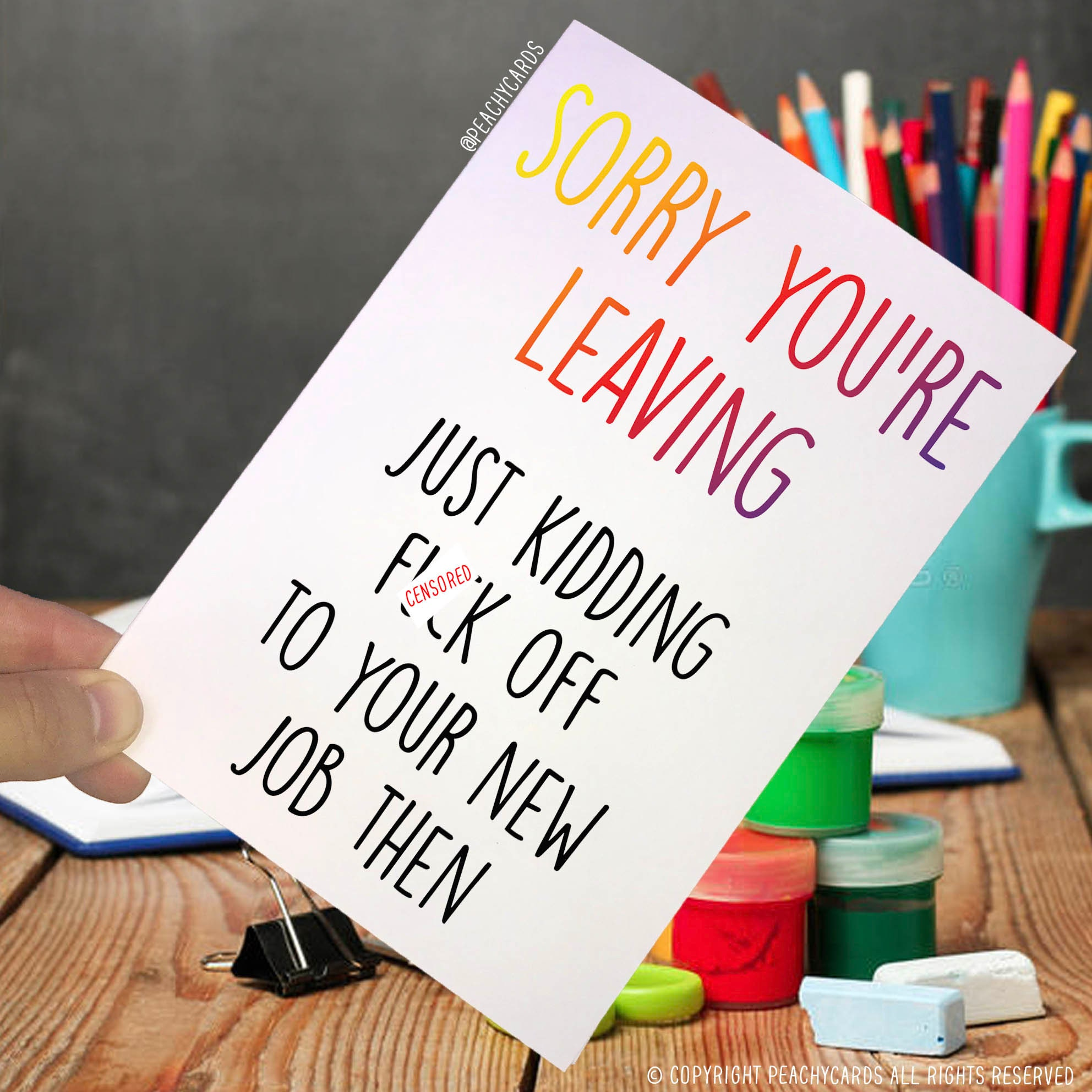 Leaving Card Coworker Card Fck Off To You New Job Then Etsy