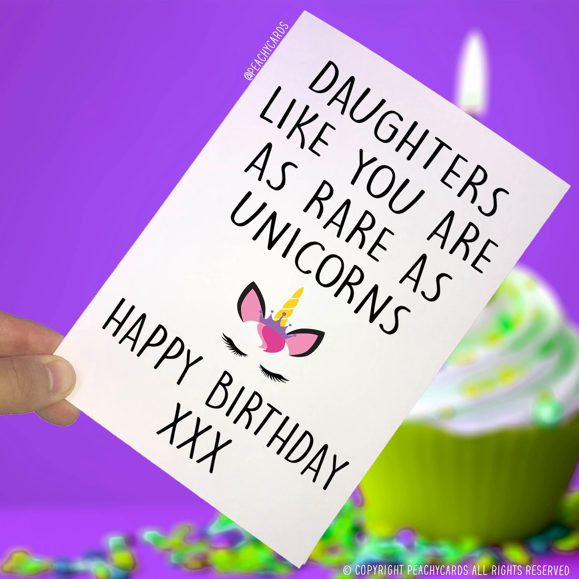 Happy Birthday Cards Card For Daughter Unicorn Cards Etsy