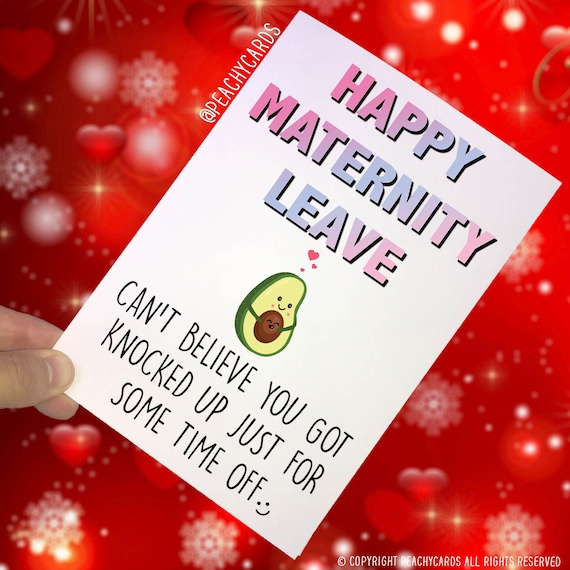Funny maternity leave card work colleague congratulations etsy image 0 m4hsunfo
