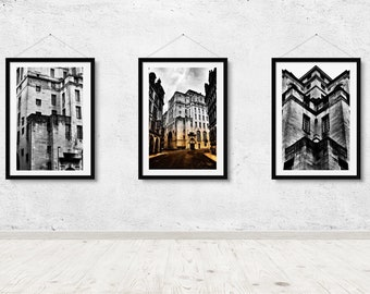 All angles. Architecture, Manchester, wall art, print, city, photography.