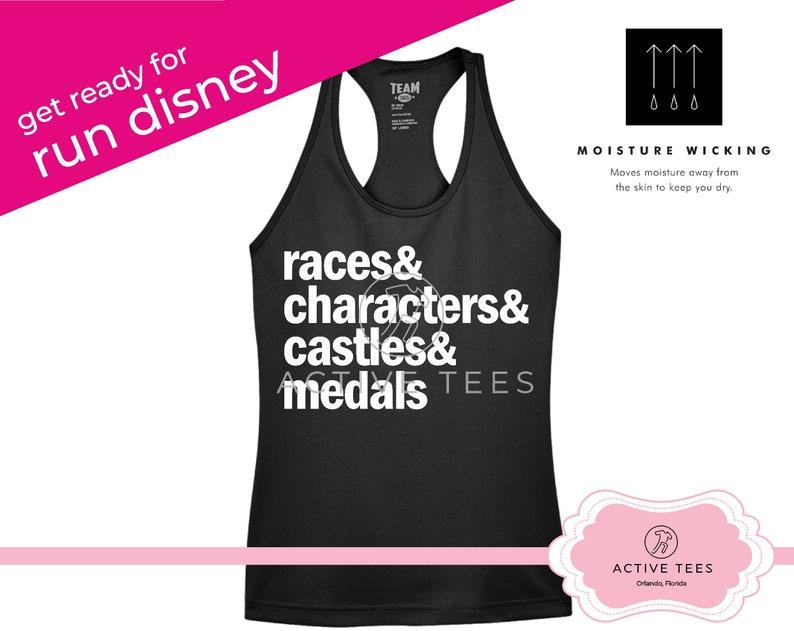 Run Disney 5K 10K Half Marathon Race Run Disney Races /& Characters Wine and Dine Marathon Moisture Wicking Racerbacks