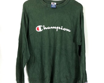 6dba37f5 Champion spell out logo/made in usa/size L
