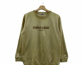 Khaki Button Up Shirt  Saint Clair Paris Shirt  Long Sleeve Shirt  Green Shirt  Checkered Check Shirt Small