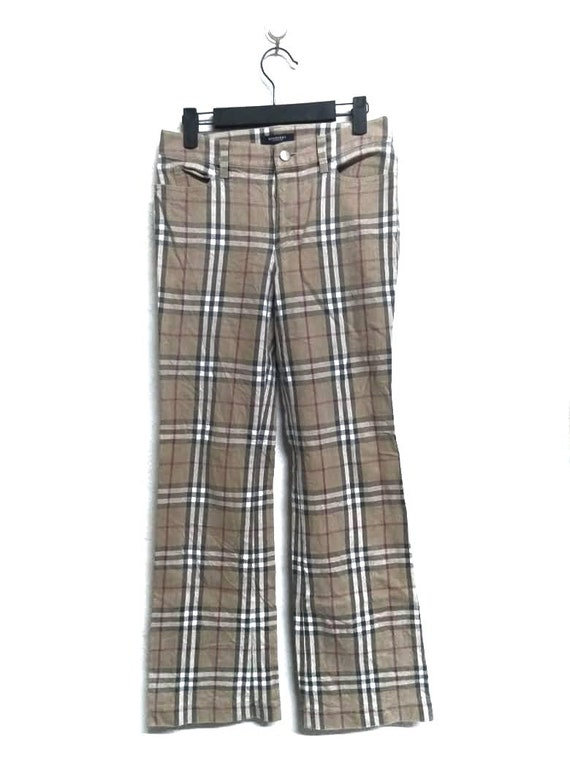 Rare!!!Authentic Burberry Nova Check Pants/Iconic