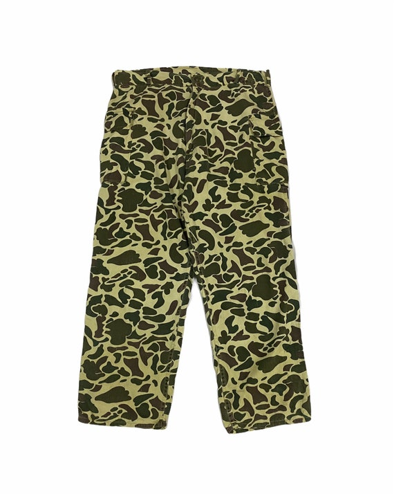 Vtg!!!Rare Army Issue Usa Frogskin Camouflage Trouser PantsTiger Striped PantsSize 36