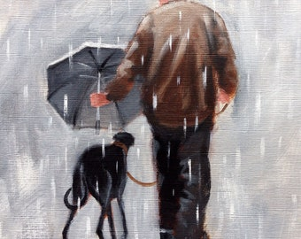 Well he is getting on.., Giclee print, greyhound, greyhound art, whippet, Original painting Steve Sanderson, art print