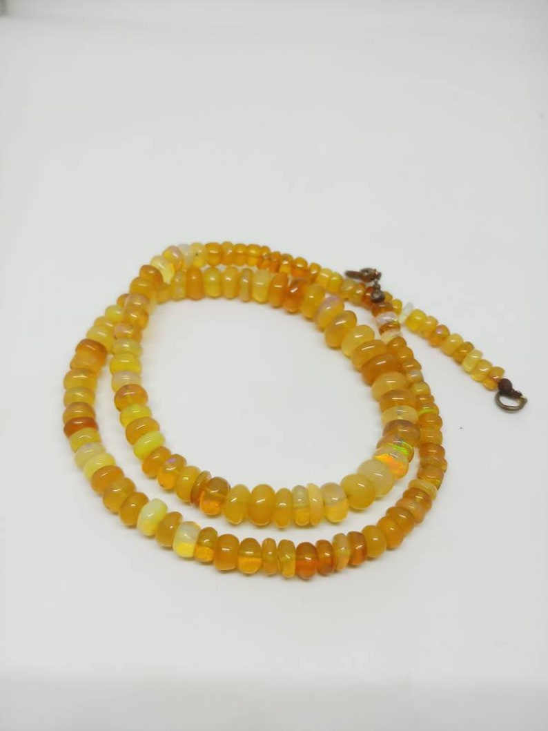 AAA Quality Natural Fire OPAL Round beads Necklace 5-9mm beads