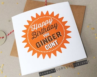 Rude Birthday Card Midget Dick Small Willy Cock Friend Etsy