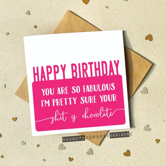 Funny Rude Birthday Card For Men /& Women Fortune Teller Perfect For Best Friends