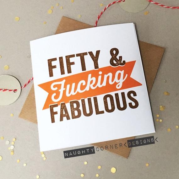 Funny Rude 50th Birthday Card Fiftieth Cards
