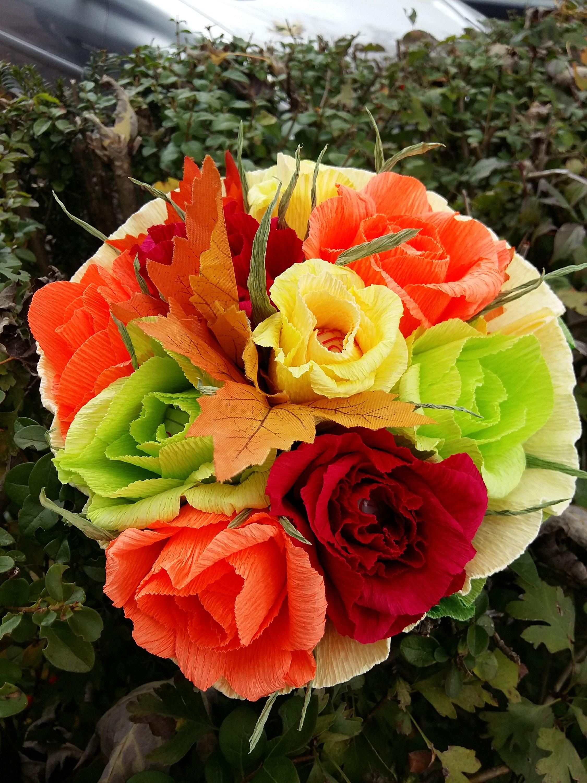 Chokolate flower bouquetbeautiful paper flowersflower etsy zoom izmirmasajfo