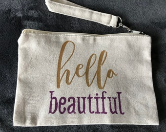 Make up bag, hello