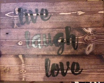 Live-Laugh-Love Handmade Wooden Sign