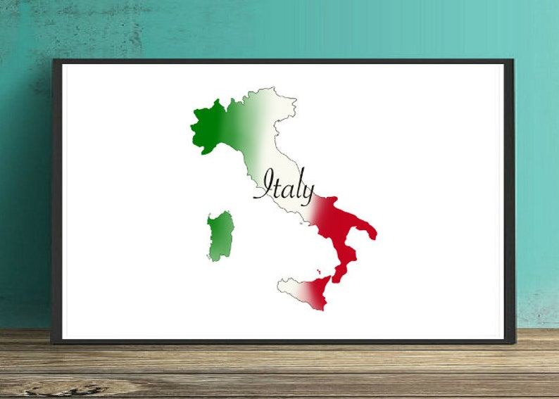 photograph about Printable Italy Flag identify Italy Map and Flag Print, Printable Italy, Italy Map Print, Italy Flag Print, Italian Decor, Italy Flag Decor, Italy Wall Print within JPG PNG