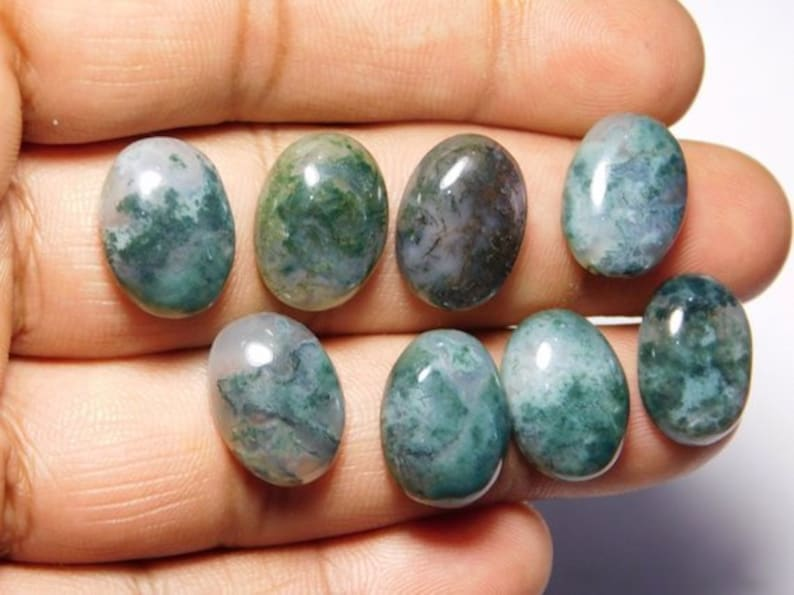 size 9 to 15 mm 8 PCS Amazing Moss Agate Lot AAA+ quality Natural Moss Agate Wholesale Super Quality Lot Loose Stone,Moss Agate Lot