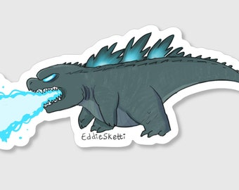 King of the monsters clear vinyl sticker