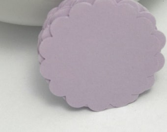 die cuts lavender scalloped circle die cuts, gift tag, scrapbooking, journal spot, cupcake topper papercrafts card making stationery