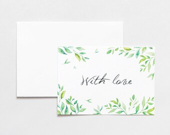 """Vegetable card """"With love"""""""