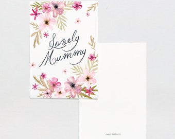 """Card floral """"Lovely Mummy"""""""