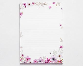 Notepad A5 Fleuri - Ligné - 50 sheets - Notepad