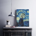 "Vincent Van Gogh ""Starry Night"" Customize Printed Photo Gift. Your own photo inside Starry Night. Van Gogh Style! Best Gift !"