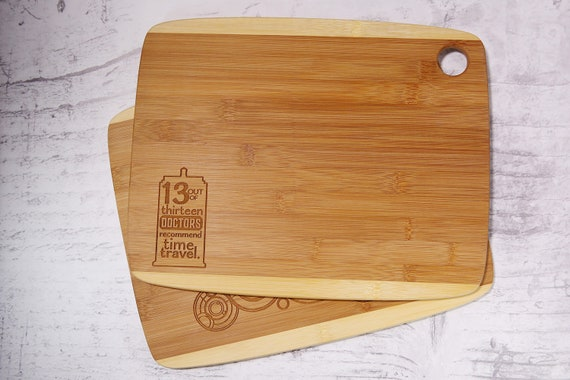 Anchor And Rope Nautical Etched Bamboo Cutting Board