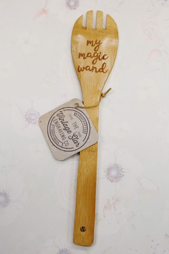 Grandma/'s Magic Wand Engraved Wooden Spoon etched design
