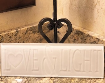 Personalized Glass Etched Tile