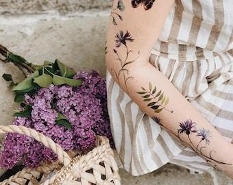 342aba10c Boho Tattoo, Temporary Tattoos, Custom Temporary Tattoo, Floral Tattoo,  Butterfly Tattoo, Tattoo Sleeve, Body Art Tattoo, Shoulder Tattoos