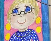 Mrs. Beasley in Acrylic...