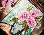 Palette Knife Rose Painting Tutorial