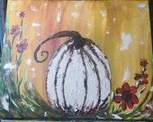Fall Pumpkin palette knif...