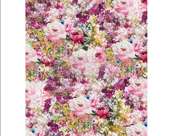 """Fuchsia Meadow ReDesign Rice Paper 11.5""""x16.25"""""""