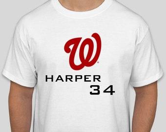 Bryce Harper #34 graphic tee shirt