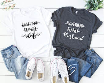 efdd99fb girlfriend fiance wife shirt| Boyfriend Fiance Husband | Husband & wife  Shirts | Mr and Mrs Shirt | Newlywed Shirt | Just Married